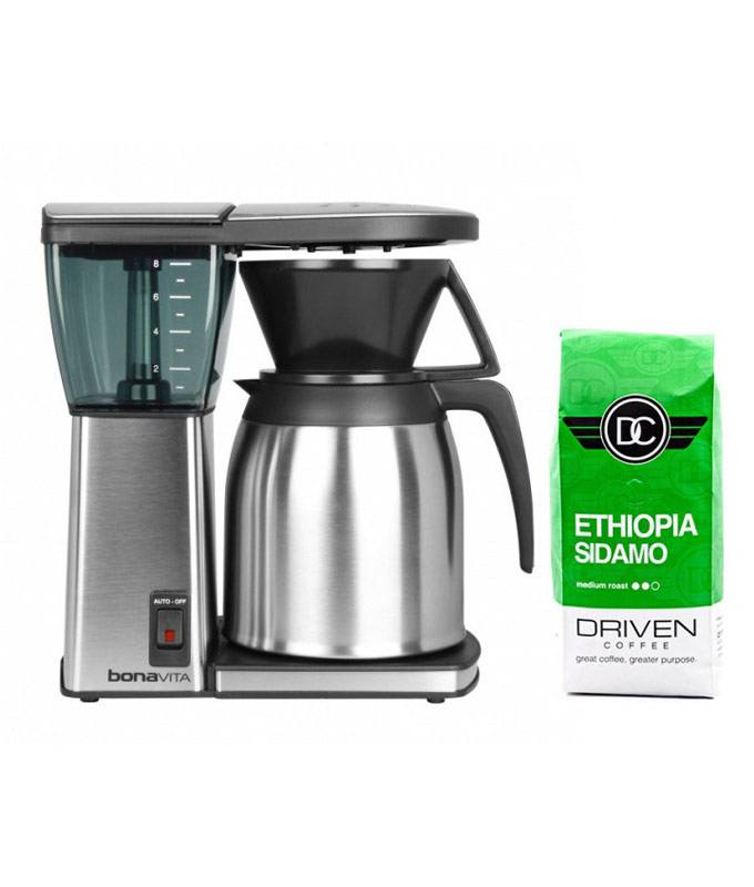 Bonavita Original 8 cup Coffee Brewer with Stainless Steel Lined Thermal Carafe