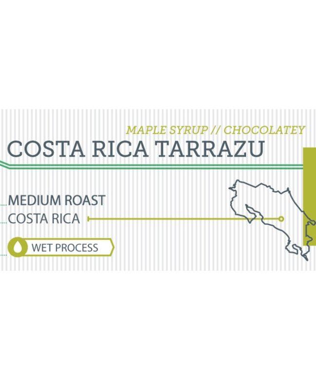 Costa Rica Tarrazu label