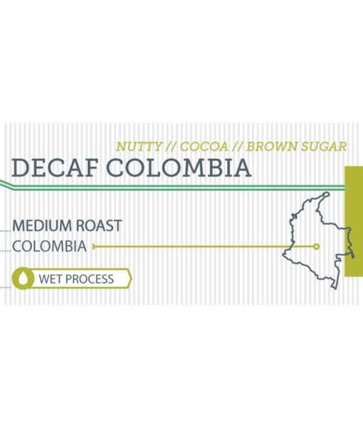 Decaf Colombia label