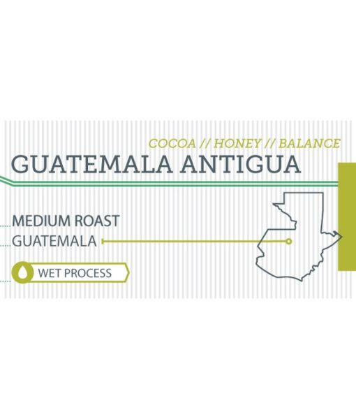 Guatemala Antigua label