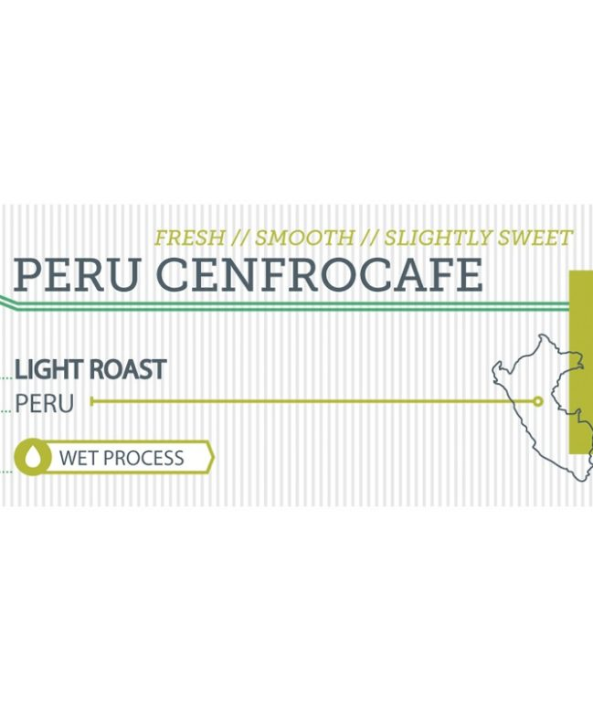 Peru Cenfrocafe label