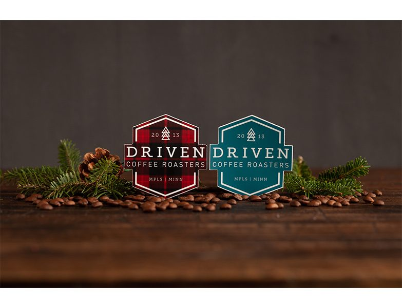 Driven Badge Sticker