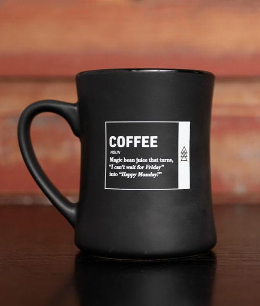 Happy Monday Coffee Mug Back