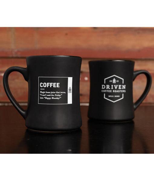 Happy Monday Coffee Mug Pair