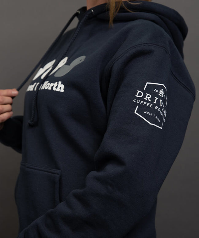 Raised Up North Hoodie Profile View