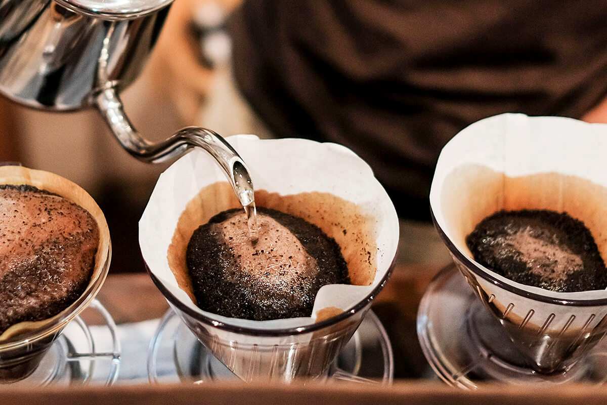 Brewing with Clever Coffee Dripper