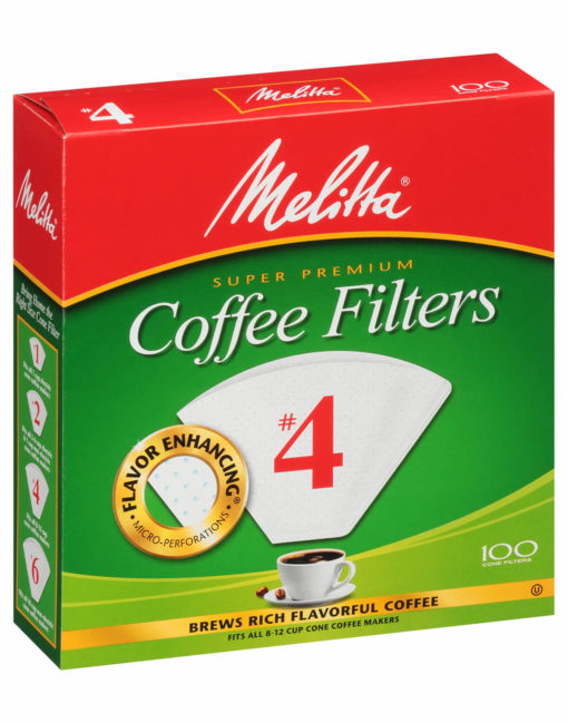 Melitta #4 Filters White