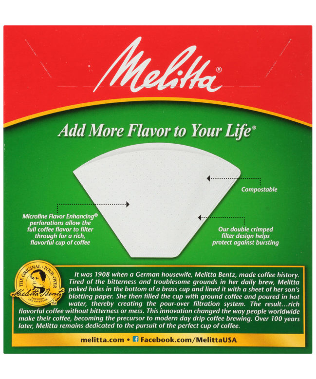 Melitta #4 Filters White Back