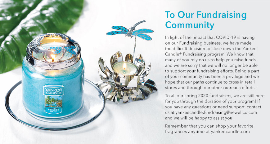 Yankee Candle Fundraising Closed