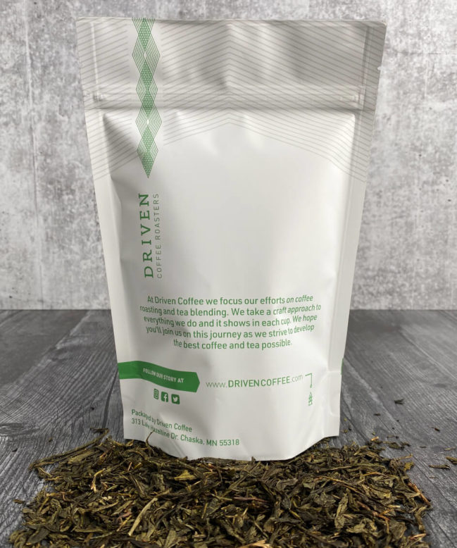 Sencha Peach Green Tea back